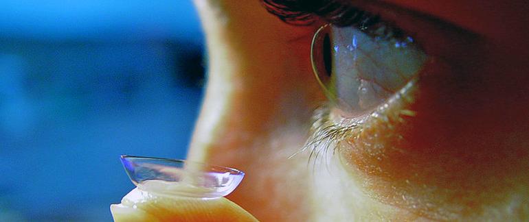 фото контактной линзы для зрения