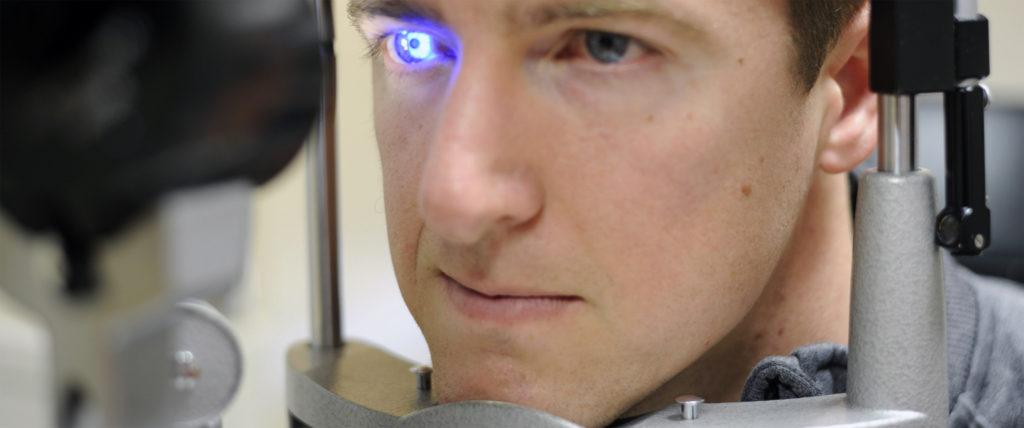 фото диагностики глаза щелевой лампой