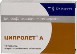 фото препарата ципролет