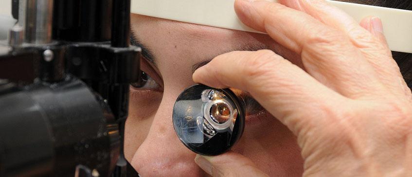 диагностика глаз с помощью линзы гольдмана